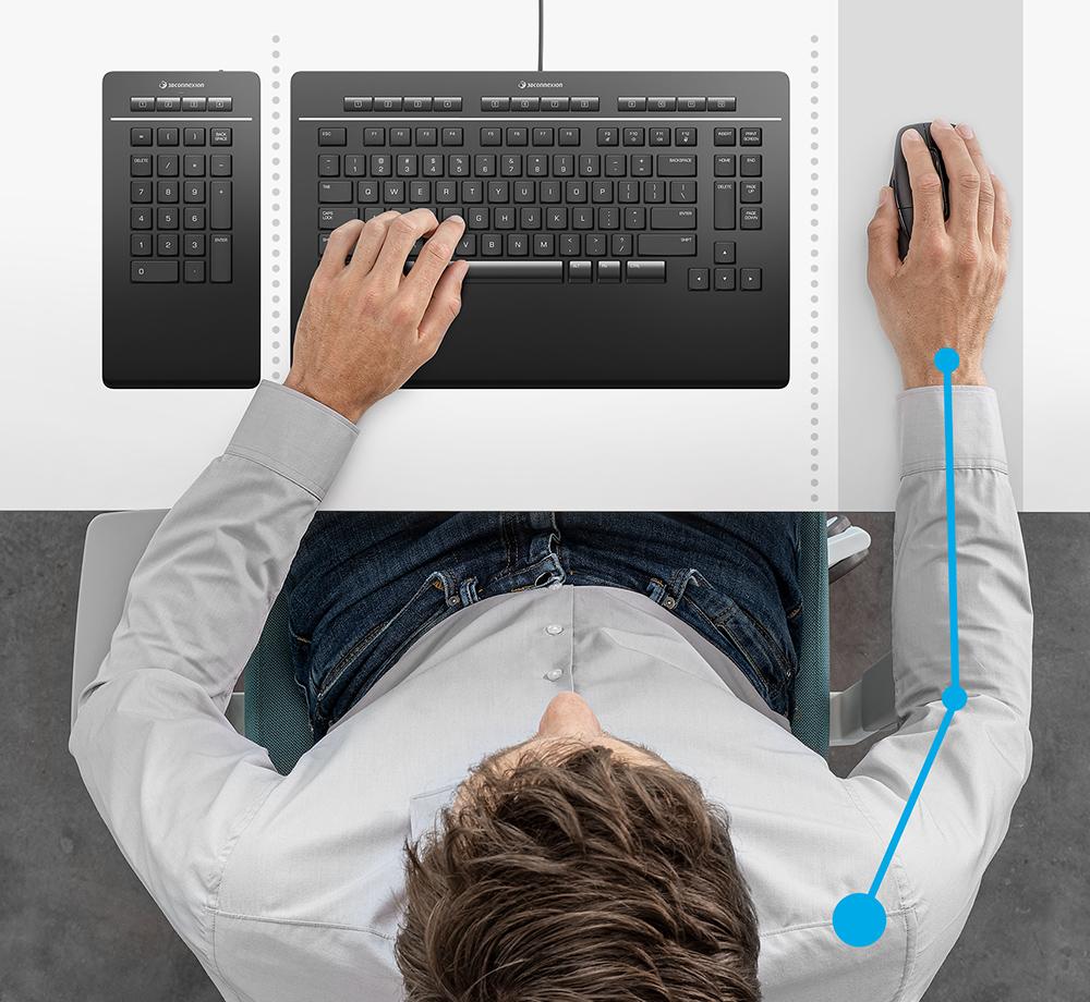 3Dconnexion Keyboard Pro - Better Posture
